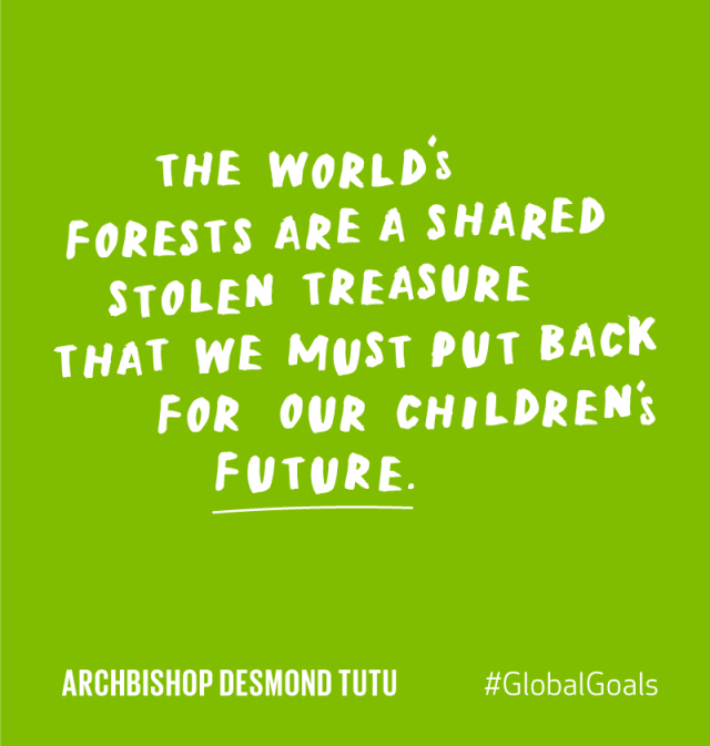 Life on Land Archbishop Desmond Tutu Quote