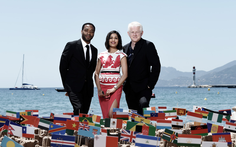 Chiwetel Ejifor, Freida Pinto and Richard Curtis - Cannes