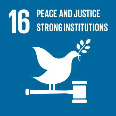 Peace, Justice and Strong Institutions Icon