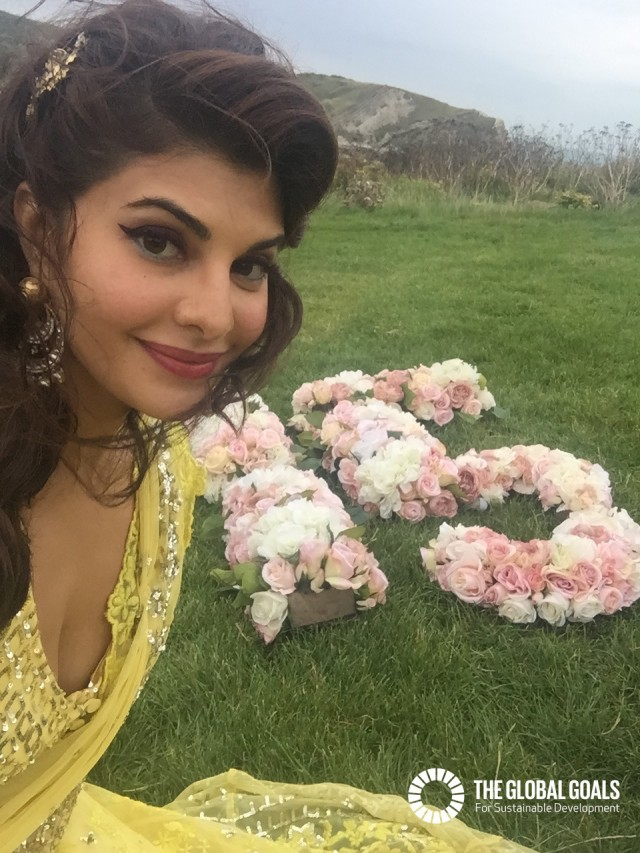 Jacqueline Fernandez supports Goal 15 Life on Land #globalgoals