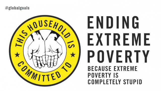 Penguin Ending Extreme Poverty Postcard