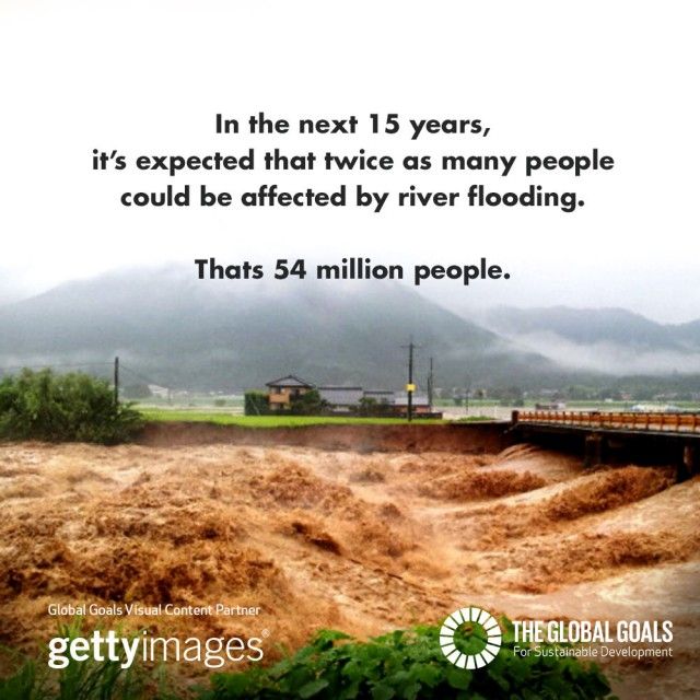 In the next 15 years, it's expected that twice as many people could be affected by river flooding