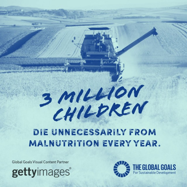 3 million children die unnecessarily from malnutrition every year