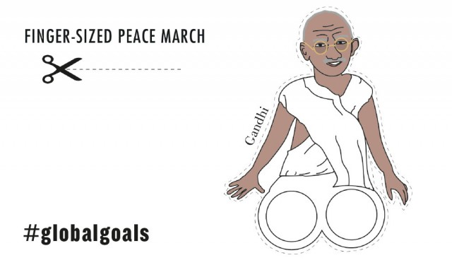 Gandhi fought his whole life to make our planet better. Let's make the #GlobalGoals famous and finish the job.