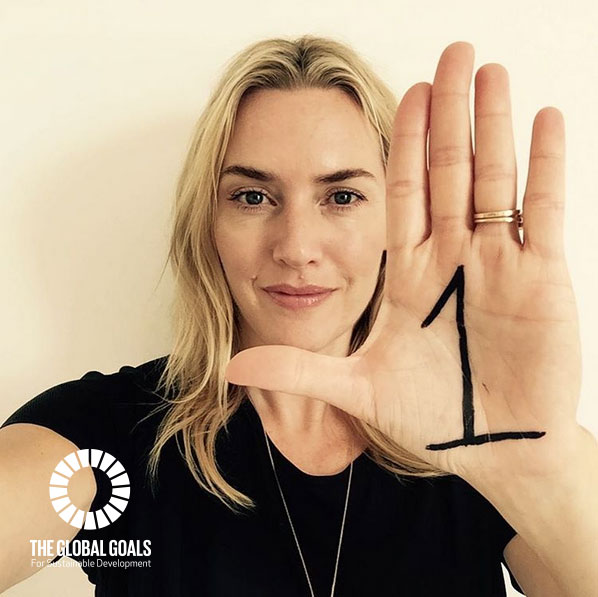 Kate Winslet supports Goal 1 No Poverty