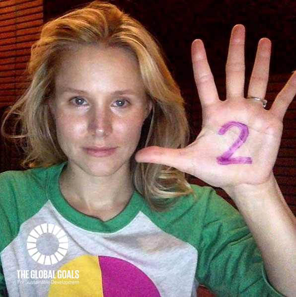 Kristen Bell supports Goal 2 Zero #globalgoals