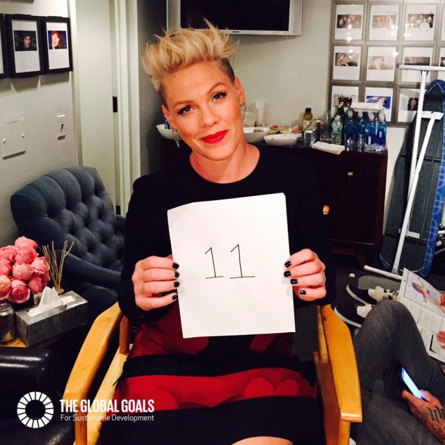 Pink supports Goal 11 Sustainable Cities and Communities #globalgoals